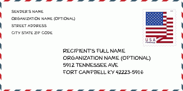 5912 TENNESSEE AVE , FORT CAMPBELL, KY 42223-5916, USA | Kentucky